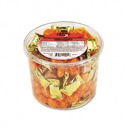Office Snax - 00015 - Creamy & Smooth Delights Candy, Butter Flavor, 2 lb Resealable Plastic Tub