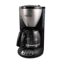 Coffee Pro - CP12BP - Home/Office Euro Style Coffee Maker, Black/Stainless Steel