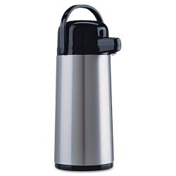 Coffee Pro - CPAP22 - Direct Brew/Serve Insulated Airpot with Carry Handle, 2200mL, Stainless Steel