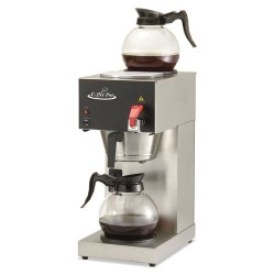 Coffee Pro - CPDC128AF - Two-Burner Institutional Coffee Maker, 12 Cup, Stainless Steel, 9 x 16 1/2 x 19