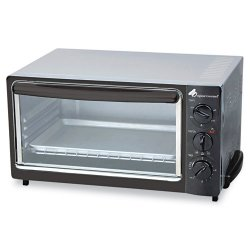 Coffee Pro - OG22 - Multi-Function Toaster Oven with Multi-Use Pan, 15 x 10 x 8, Black/Stainless