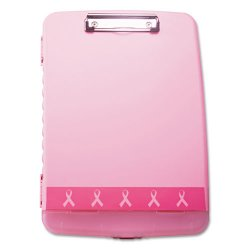 OfficeMate - 08925 - Breast Cancer Awareness Clipboard Box, 3/4 Capacity, 8 1/2 x 11, Pink