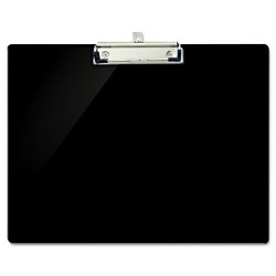OfficeMate - 83050 - Recycled Plastic Landscape Clipboard, 1/2 Capacity, Black