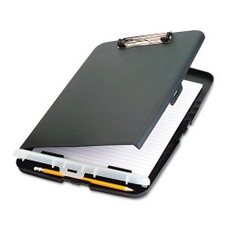 OfficeMate - 83303 - Low Profile Storage Clipboard, 1/2 Capacity, Holds 9w x 12h, Charcoal