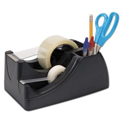 OfficeMate - OIC96690 - Recycled 2-in-1 Heavy Duty Tape Dispenser, 1 and 3 Cores, Black