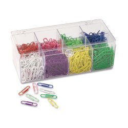 OfficeMate - 97228 - OIC PVC-free Color-coated Paper Clips - No. 2 - for Color Coding - 800 / Box - Assorted - Plastic