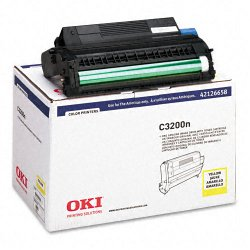 Okidata - 42126658 - Oki Type C6 Yellow Image Drum For C 3200 and C 3200N Printers - 15000 - 1 Each