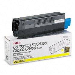 Okidata - 42127401 - Oki Yellow Toner Cartridge - LED - 5000 Page - 1 Each