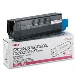 Okidata - 42127402 - Oki Original Toner Cartridge - LED - 5000 Pages - Magenta - 1 Each
