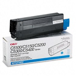 Okidata - 42127403 - Oki Toner Cartridge - LED - High Yield - 5000 Pages - Cyan - 1 Each