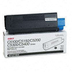 Okidata - 42127404 - Oki Black Toner Cartridge - LED - 5000 Page - 1 Each