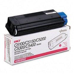 Okidata - 42804502 - Oki Type C6 Magenta Toner Cartridge - LED - 3000 Page - 1 Each
