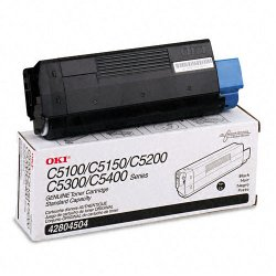 Okidata - 42804504 - Oki Original Toner Cartridge - LED - 3000 Pages - Black - 1 Each