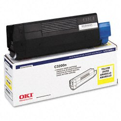 Okidata - 43034801 - Oki Type C6 Yellow Toner Cartridge - LED - 1500 Page - 1 Each