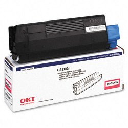 Okidata - 43034802 - Oki Toner Cartridge - LED - 1500 Pages - Magenta - 1 Each