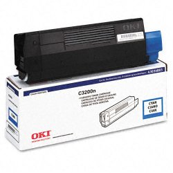 Okidata - 43034803 - Oki Type C6 Cyan Toner Cartridge - LED - 1500 Page - 1 Each