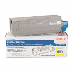 Okidata - 43324401 - Oki Original Toner Cartridge - LED - 5000 Pages - Yellow - 1 Each
