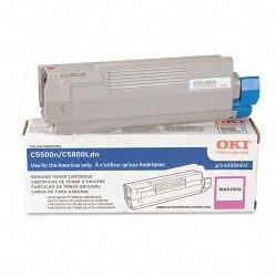 Okidata - 43324402 - Oki Original Toner Cartridge - LED - 5000 Pages - Magenta - 1 Each
