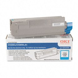 Okidata - 43324403 - Oki Cyan Toner Cartridge - LED - 5000 Page - 1 Each