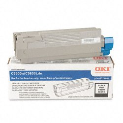 Okidata - 43324404 - Oki Black Toner Cartridge - LED - 5000 Page - 1 Each