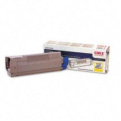 Okidata - 43324417 - Oki Original Toner Cartridge - LED - 5000 Pages - Yellow - 1 Each