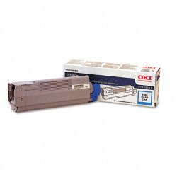 Okidata - 43324419 - Oki Original Toner Cartridge - LED - 5000 Pages - Cyan - 1 Each