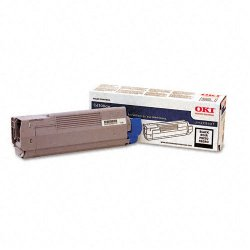 Okidata - 43324420 - Oki Type C8 Black Toner Cartridge - LED - 6000 Page - 1 Each