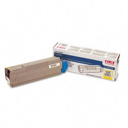 Okidata - 43324466 - Oki Toner Cartridge - LED - 4000 Pages - Yellow - 1 Each