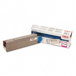 Okidata - 43324467 - Oki Original Toner Cartridge - LED - 4000 Pages - Magenta - 1 Each