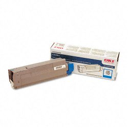 Okidata - 43324468 - Oki Original Toner Cartridge - LED - 4000 Pages - Cyan - 1 Each