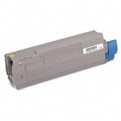 Okidata - 43381901 - Oki Original Toner Cartridge - LED - 2000 Pages - Yellow - 1 Each