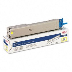 Okidata - 43459301 - Oki High-Capacity Yellow Toner Cartridge - LED - High Yield - 2000 Page - 1 Each