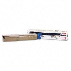 Okidata - 43459402 - Oki Magenta Toner Cartridge - LED - 1000 Page - 1 Each