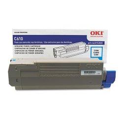 Okidata - 44315303 - Oki Original Toner Cartridge - LED - 6000 Pages - Cyan - 1 Each