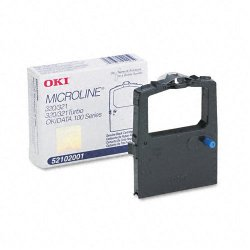 Okidata - 52102001 - Oki Black Ribbon Cartridge - Dot Matrix - 3 Million Characters - 1 Each