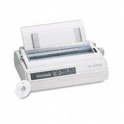 Okidata - 62410501 - OKI Microline 395 - Printer - monochrome - dot-matrix - Roll (16 in) - 360 dpi - 24 pin - up to 610 char/sec - parallel, serial