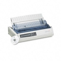 Okidata - 62411701 - OKI Microline 321 Turbo - Printer - monochrome - dot-matrix - 240 dpi x 216 dpi - 9 pin - up to 435 char/sec - parallel, USB
