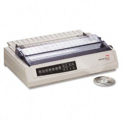 Okidata - 62412001 - OKI Microline 391 Turbo - Printer - monochrome - dot-matrix - 360 dpi - 24 pin - up to 390 char/sec - parallel, USB