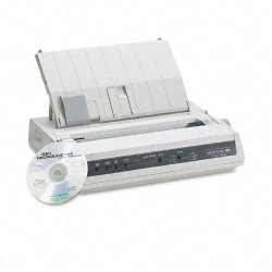 Okidata - 62422301 - OKI Microline 186 - Printer - monochrome - dot-matrix - 240 x 216 dpi - 9 pin - up to 375 char/sec - parallel, USB