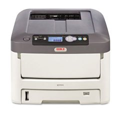 Okidata - 62433501 - Oki C711N LED Printer - Color - 1200 x 600 dpi Print - Plain Paper Print - Desktop - 36 ppm Mono / 34 ppm Color Print - 630 sheets Standard Input Capacity - 100000 pages per month - LCD - Ethernet - USB