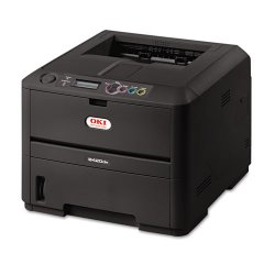 Okidata - 91642903 - Oki B420DN LED Printer - Monochrome - 30 ppm Mono - 2400 x 600 dpi - USB, Parallel - Fast Ethernet - PC, Mac