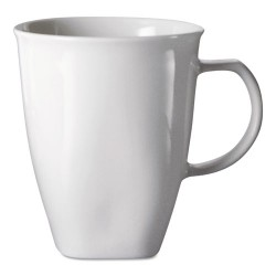 Office Settings - CTM1 - Chef's Table Fine Porcelain Coffee Mugs, 16oz, White, 8/Box