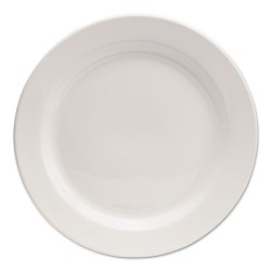Office Settings - CTR1 - Chef's Table Fine Porcelain Round Dinnerware, Dinner Plate, 10 dia, White, 8/BX