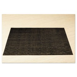 Office Settings - VPMBK - Office Settings Placemats - Desktop - 12 Length x 17 Width - Rectangle - Vinyl - Black