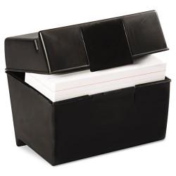 Oxford - 01461 - Plastic Index Card File, 400 Capacity, 6 1/2w x 4 7/8d, Black