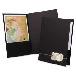 Oxford - 04161 - Monogram Series Business Portfolio, Premium Cover Stock, Black/Gold, 4/Pack