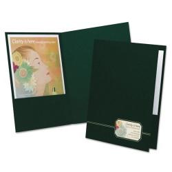 Oxford - 04164 - Monogram Series Business Portfolio, Premium Cover Stock, Green/Gold, 4/Pack