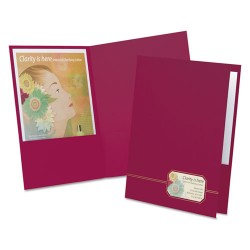 Oxford - 04165 - Monogram Series Business Portfolio, Cover Stock, Burgundy/Gold, 4/Pack