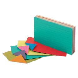 Oxford - 04736 - Extreme Index Cards, 3 x 5, Vivid Assorted, 100/Pack