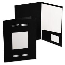 Oxford - 10071 - Imperial Series Laserview Business Portfolio, Premium Paper, Black, 10/Pack